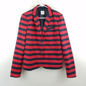 Gap Academy Blazer Striped Blue Red 8 Tall